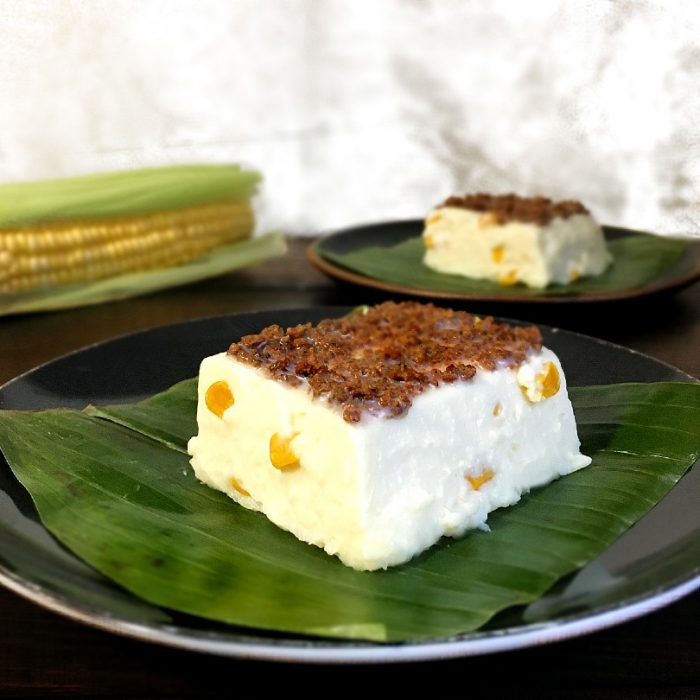 maja blanca with latik on top