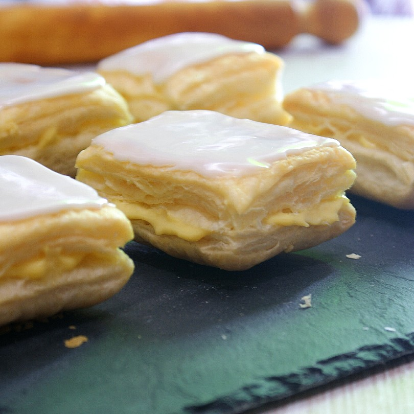 napoleones with custard filling