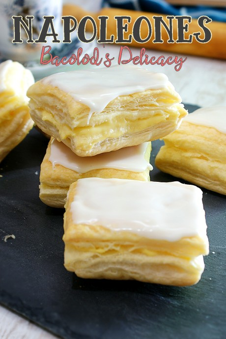 puff pastry with custard fillin and sugar glaze