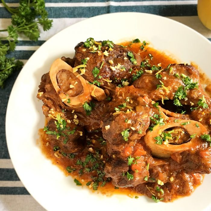 osso buco on a plate