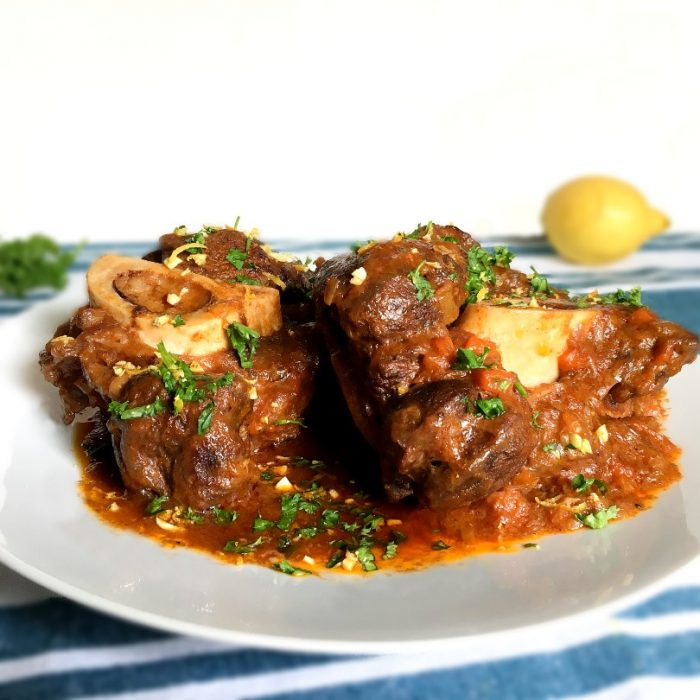 osso buco with lemon and parsley