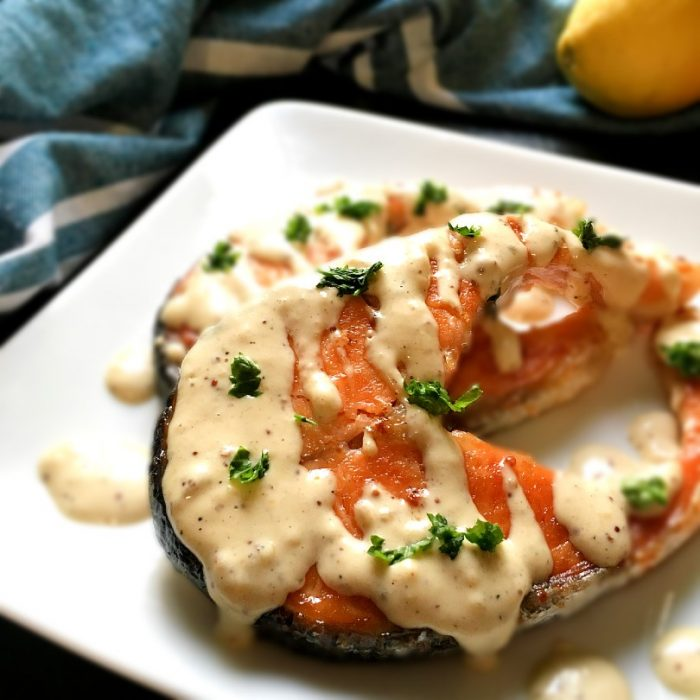 pan seared salmon with dijon sauce