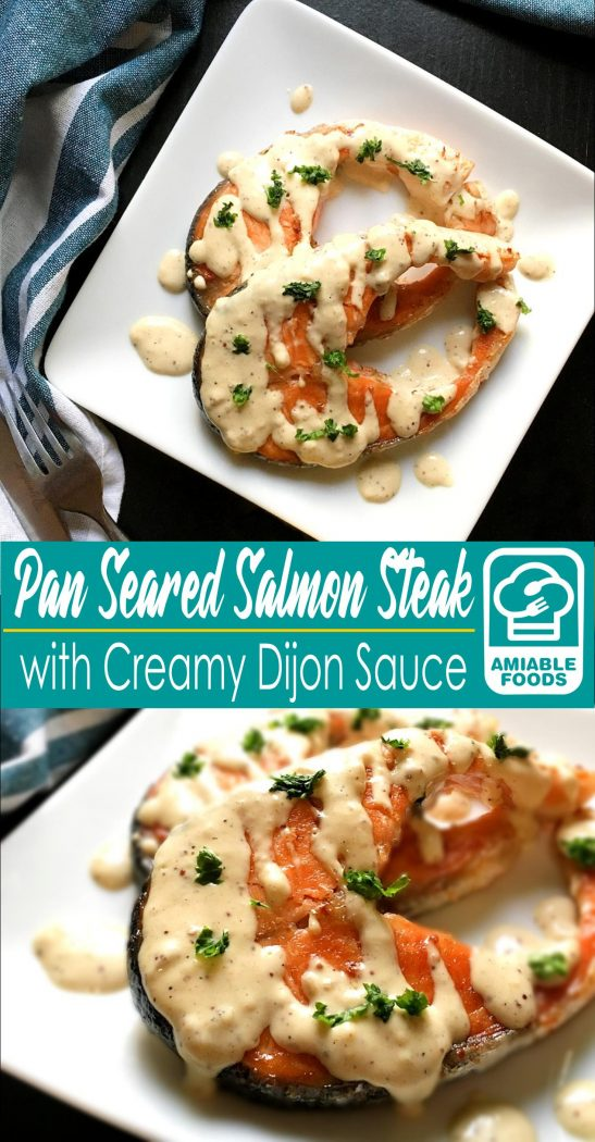 pan seared salmon with dijon sauce pinterest