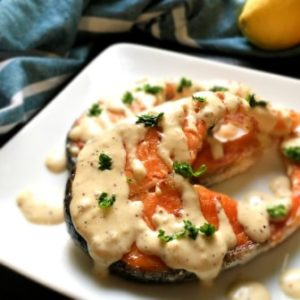 recipe image for pan searedsalmon with dijon sauce