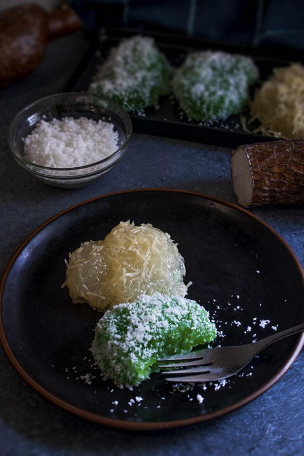 cassava dessert on top of table