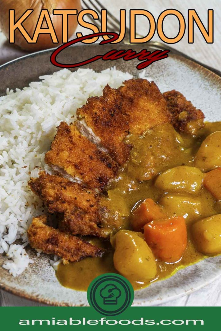 pork and curry in a plate