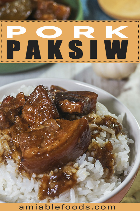 pork stew on top of rice in a bowl