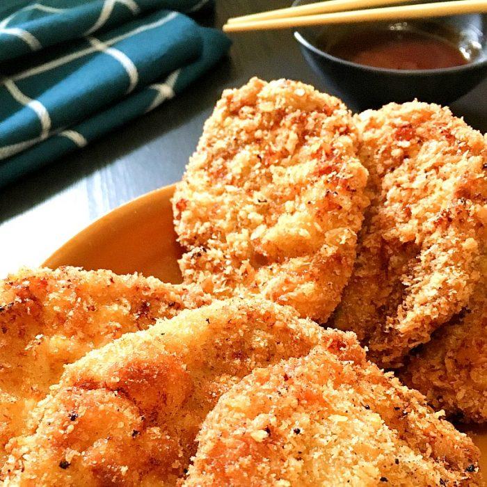pork tonkatsu on plate