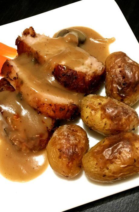 garlic pork loin roast
