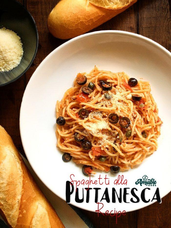 spaghetti alla puttanesca pinterest image