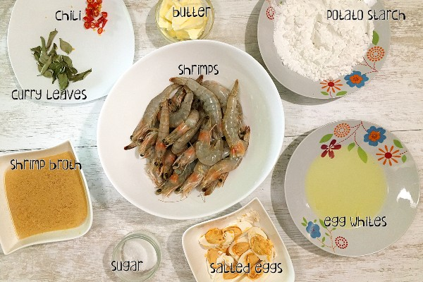 salted egg crispy shrimp ingredients