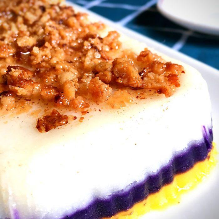 sapin-sapin layered rice cake