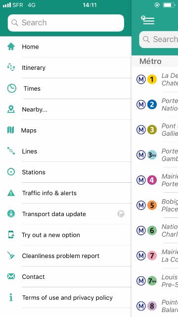 RATP-app-menu
