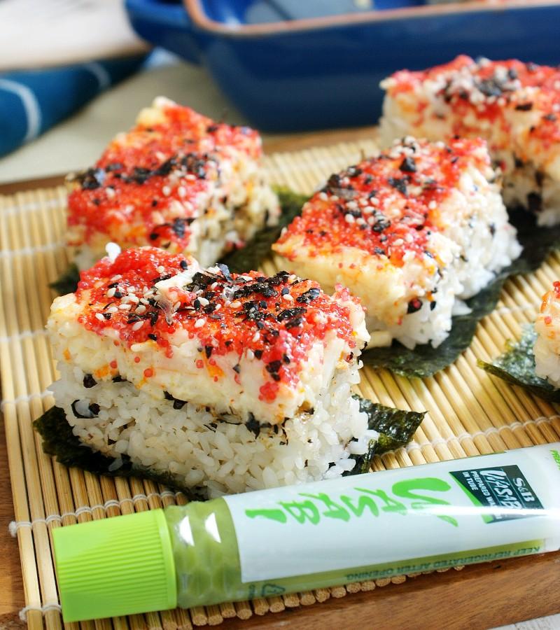 sushi bake furikake with wasabi