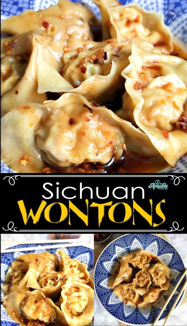 sichuan wontons for pinterest