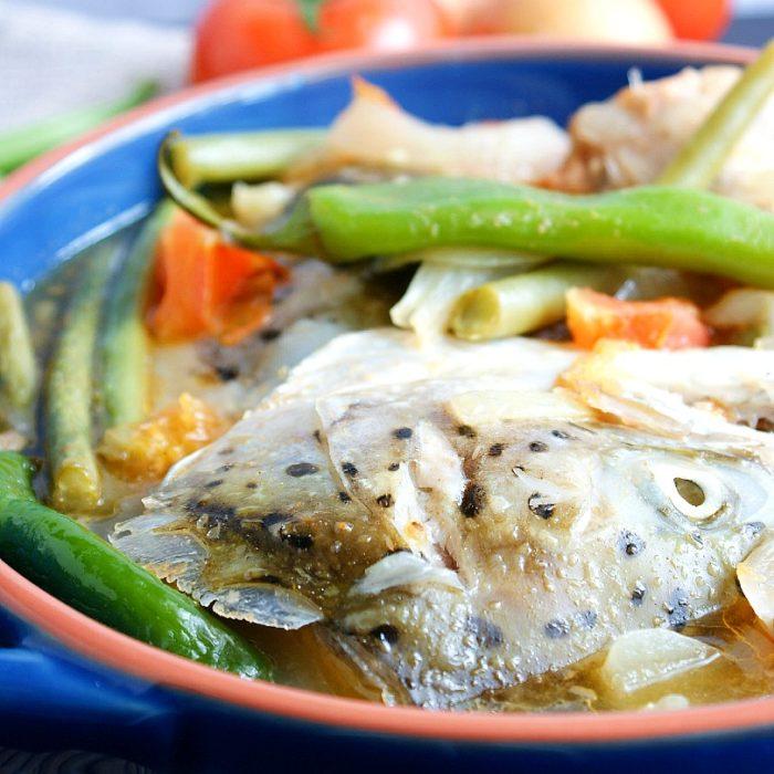 sinigang na salmon sa miso with vegetables