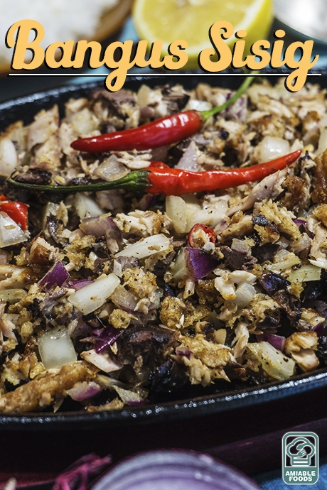 sisig with two chilis on top