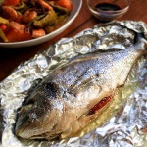 recipe image steamed stuffed fish
