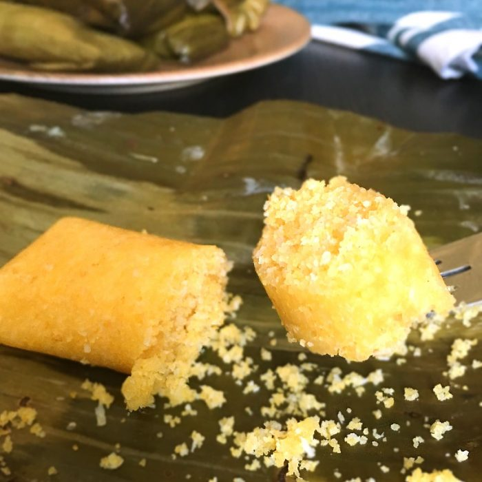 suman mais on a fork