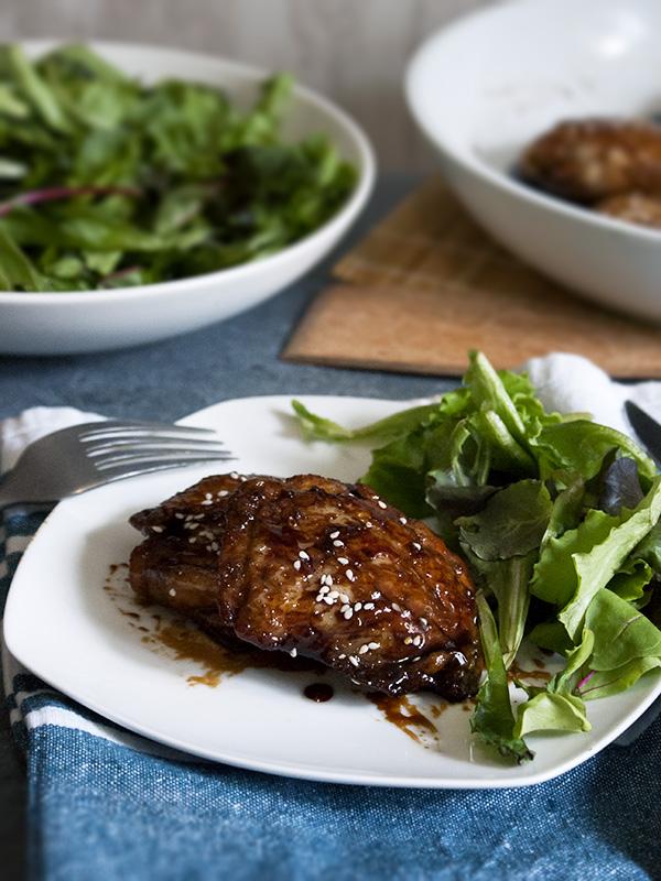 chikcken in a plate