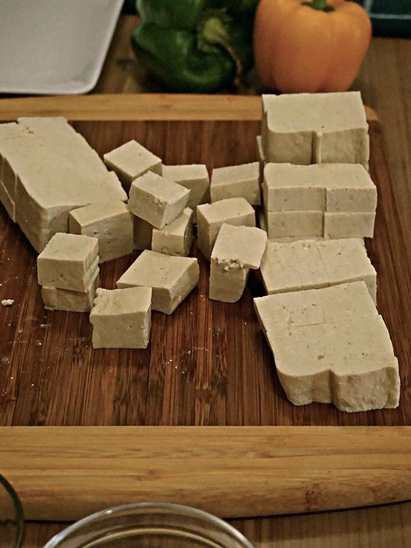 tofu cubed