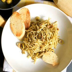 recipe image pesto pasta