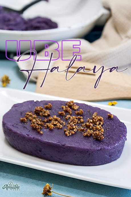 purple yam with coconut curd on top
