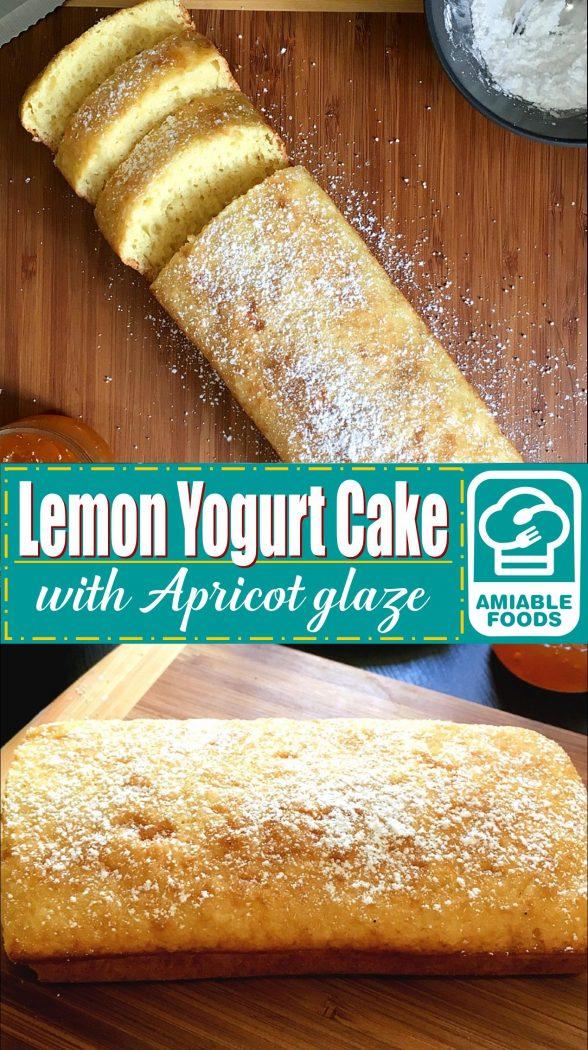 lemon yogurt cake pinterest